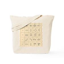 Cuneiform script Tote Bag