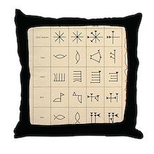 Cuneiform script Throw Pillow