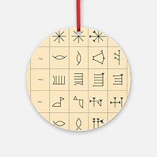 Cuneiform script Round Ornament