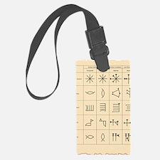 Cuneiform script Luggage Tag