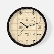 Cuneiform script Wall Clock