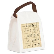 Cuneiform script Canvas Lunch Bag