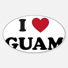 I Love Guam Decal