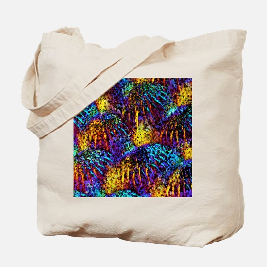 Fish scales, light micrograph Tote Bag