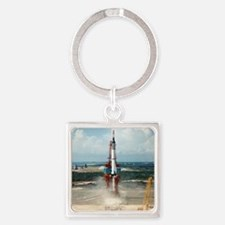 First US manned space flight, 1961 Square Keychain