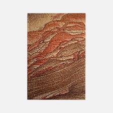 Cross-bedding in sandstone rock Rectangle Magnet