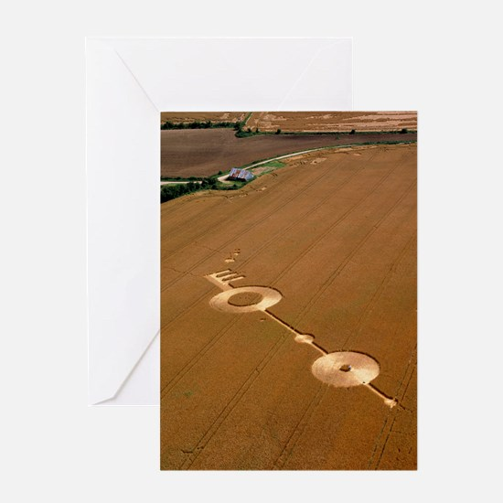 Crop formation, near East Kennett, W Greeting Card