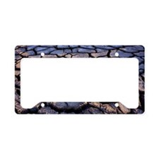 Cracked earth License Plate Holder