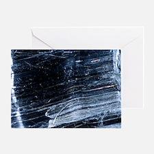 Crocidolite asbestos mineral Greeting Card