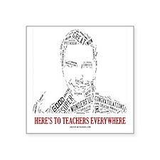 "Great Male Teacher Square Sticker 3"" x 3"""