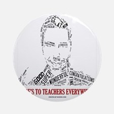 Great Male Teacher Round Ornament