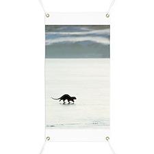 European otter on sea ice Banner