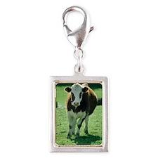 Cow Silver Portrait Charm