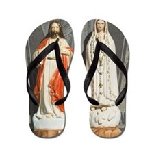 Jesus and Mary icons Flip Flops