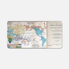 Ernst Haeckel Map Lemuria H Aluminum License Plate