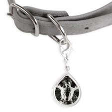 Crucifix in Saint Francis c Small Teardrop Pet Tag