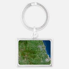 County Durham, England Landscape Keychain