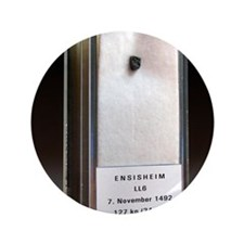 """Ensisheim meteorite fragment 3.5"""" Button"""