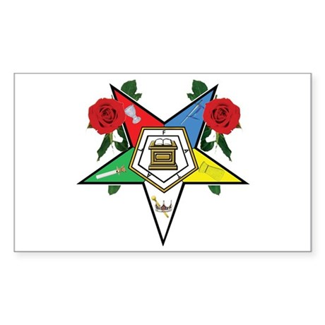 OES Roses for sisters Rectangle Sticker