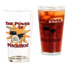 Drum Power Drinking Glass