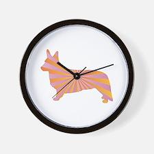 Corgi Rays Wall Clock