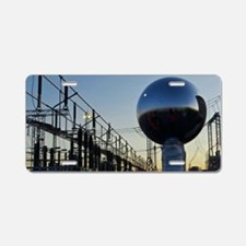 Electricity substation Aluminum License Plate