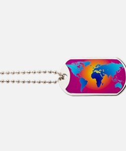 Computer art of the Earth (Mercator proje Dog Tags
