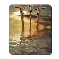 Jesus and two thieves on the cross Mousepad