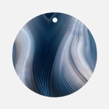 Concentric banding in agate Round Ornament