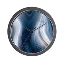Concentric banding in agate Wall Clock