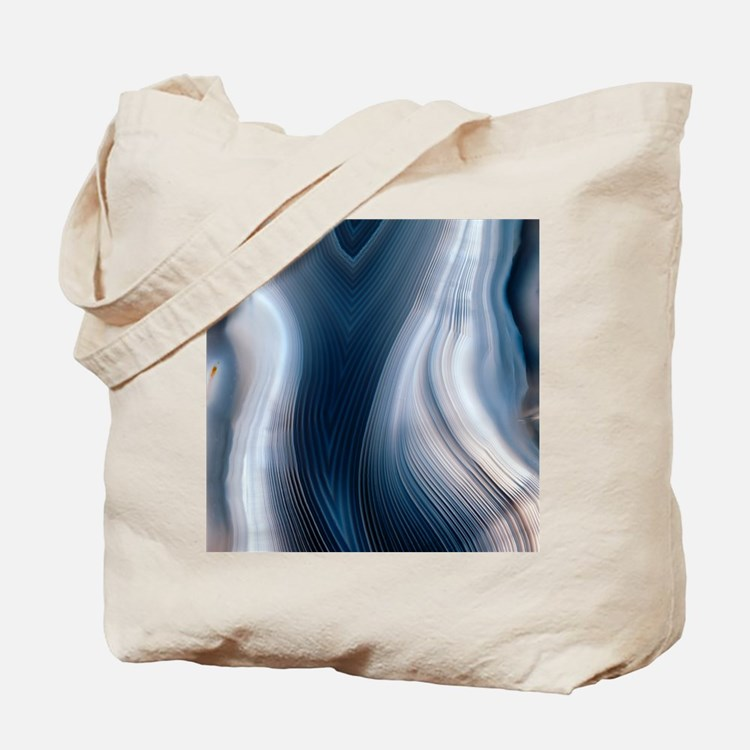 Concentric banding in agate Tote Bag