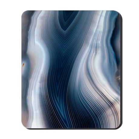 Concentric banding in agate Mousepad
