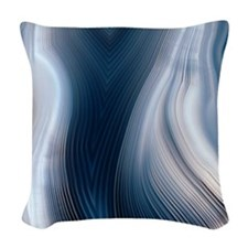 Concentric banding in agate Woven Throw Pillow
