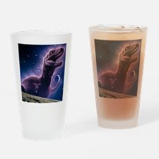 Conceptual art of a ghostly dinosau Drinking Glass
