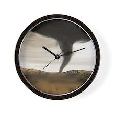 Computer illustration of a tornado Wall Clock