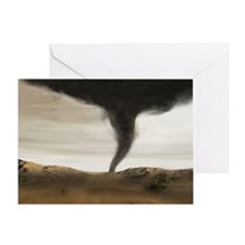 Computer illustration of a tornado Greeting Card