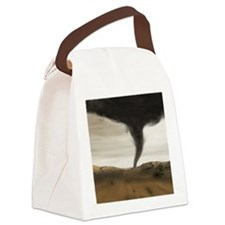 Computer illustration of a tornad Canvas Lunch Bag