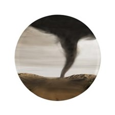 "Computer illustration of a tornado 3.5"" Button"