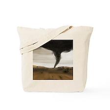 Computer illustration of a tornado Tote Bag