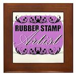 Rubber Stamp Artist Framed Tile