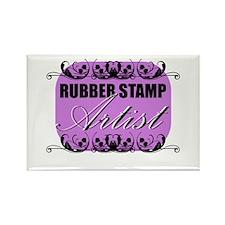Rubber Stamp Artist Rectangle Magnet