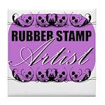 Rubber Stamp Artist Tile Coaster
