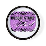 Rubber Stamp Artist Wall Clock