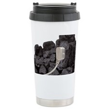 Electricity from coal, conceptu Travel Mug