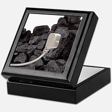Electricity from coal, conceptual ima Keepsake Box
