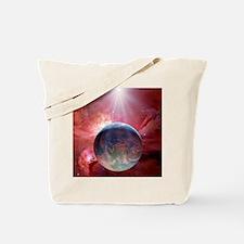 Earthlike planet in Orion Nebula, artwork Tote Bag