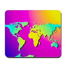 Computer art of the Earth (Mercator proj Mousepad