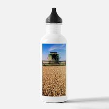 Combine harvester work Water Bottle
