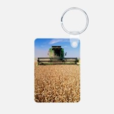 Combine harvester working  Keychains
