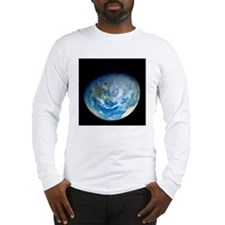 Earth from space, artwork Long Sleeve T-Shirt